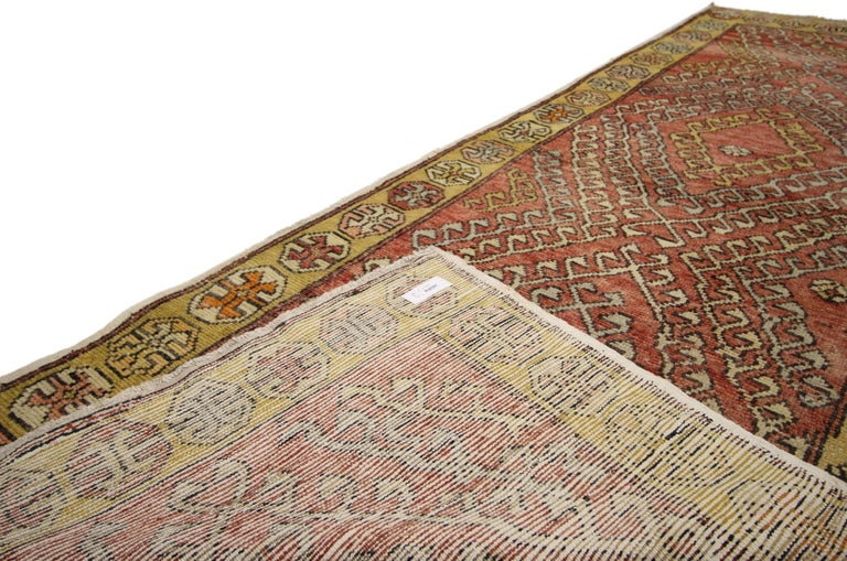 20th Century Vintage Turkish Oushak Runner with Modern Tribal Style For Sale