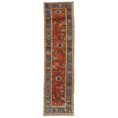 Vintage Turkish Oushak Runner with New England Cape Cod Style