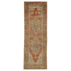 Vintage Turkish Oushak Runner with Rustic Jacobean Style