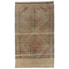 Vintage Turkish Ozdemir Flat-Weave Rug