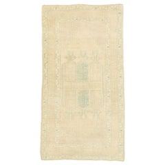 Vintage Turkish Prayer Rug, Anatolian Double Mihrab Carpet