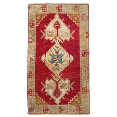 Vintage Turkish Red Rug