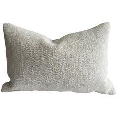 Vintage Turkish Rug Hemp Pillow
