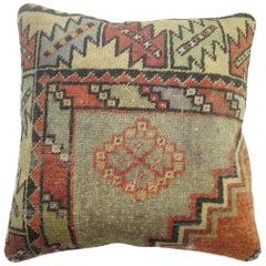 Vintage Turkish Rug Pillow