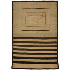 Vintage Turkish Rug with Mid-Century Modern Style