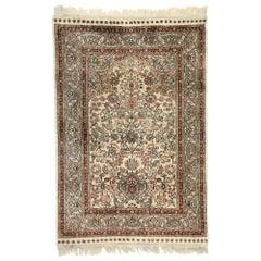 Vintage Turkish Silk Hereke Prayer Rug with Tree of Life Design & Ottoman Style