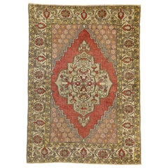 Vintage Turkish Sivas Accent Rug for Kitchen, Bathroom, Foyer or Entry Rug