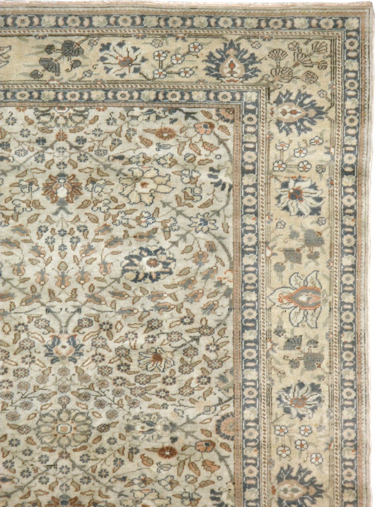 Tabriz Vintage Turkish Sivas Carpet For Sale