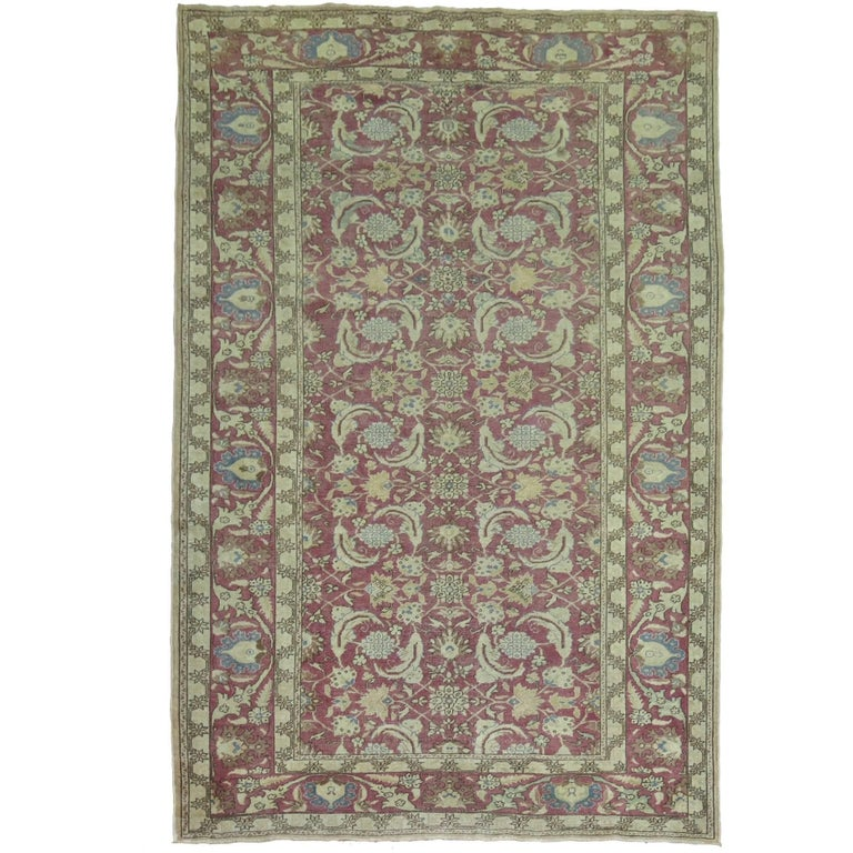Vintage Turkish Sivas Carpet