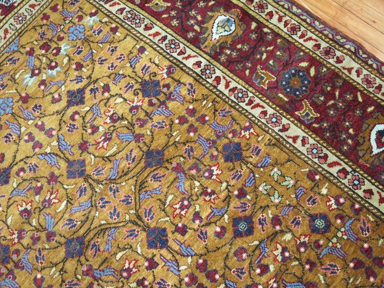 Colorful mid-century Intermediate Room size Traditional Turkish Sivas rug.  6'10'' x 10'