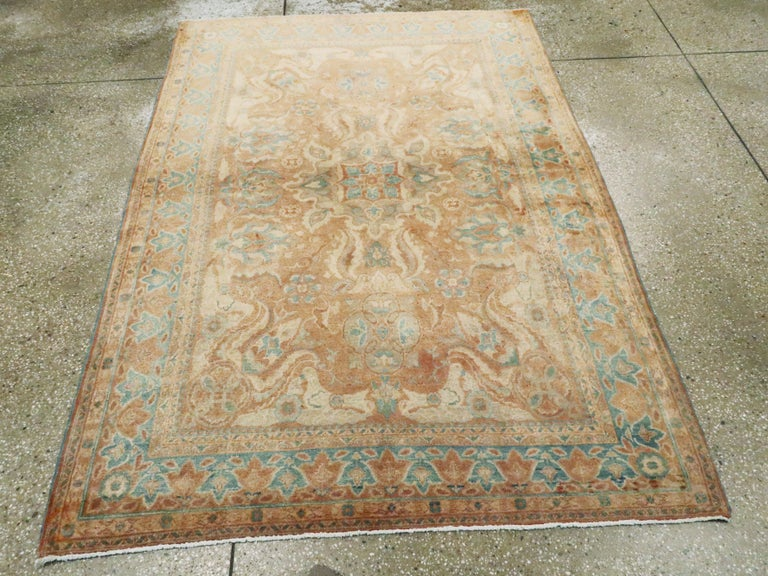 Hand-Knotted Vintage Turkish Sivas Rug For Sale