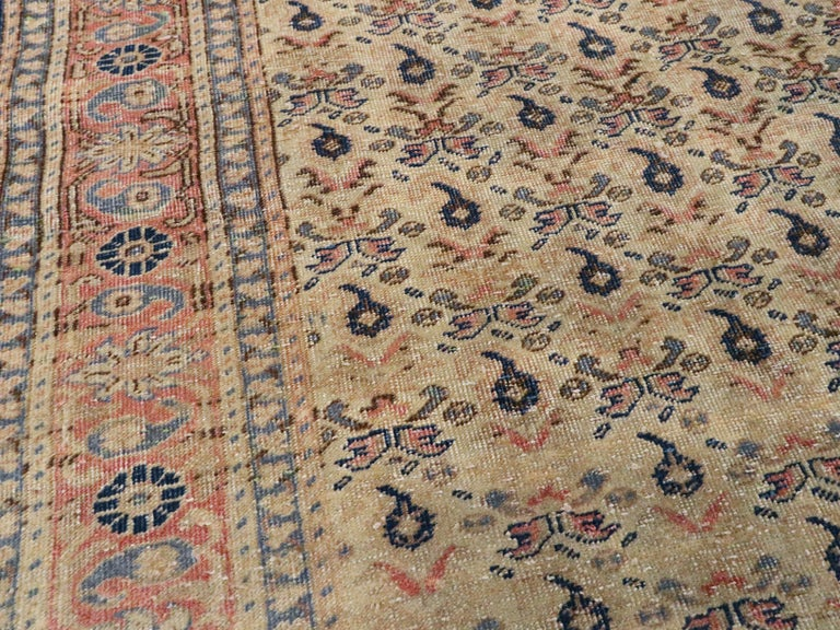Vintage Turkish Sivas Accent Rug In Good Condition For Sale In New York, NY
