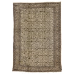 Vintage Turkish Sivas Rug with Neoclassical Style