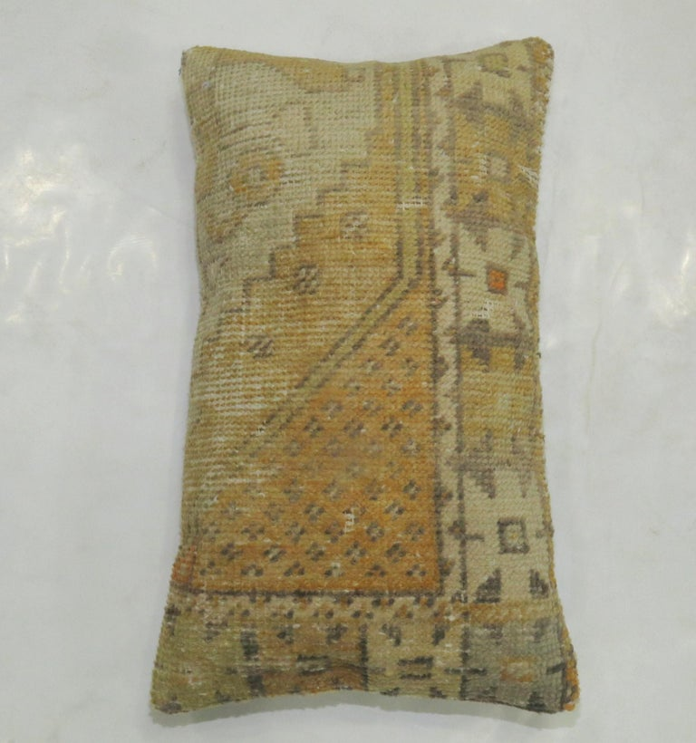 Pre-Columbian Vintage Turkish Soft Yellow Pillow For Sale