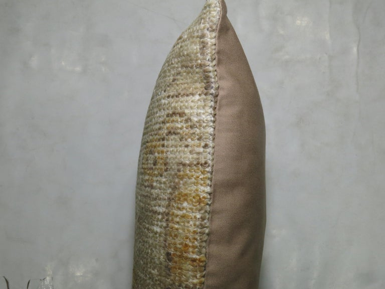 Vintage Turkish Soft Yellow Pillow In Excellent Condition For Sale In New York, NY