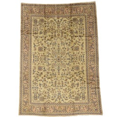 Vintage Turkish Sparta Rug with Romantic French Provincial Style