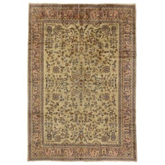 Vintage Turkish Sparta Rug with Traditional Style and Light Colors