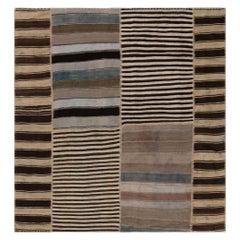 Vintage Turkish Striped Kilim Rug