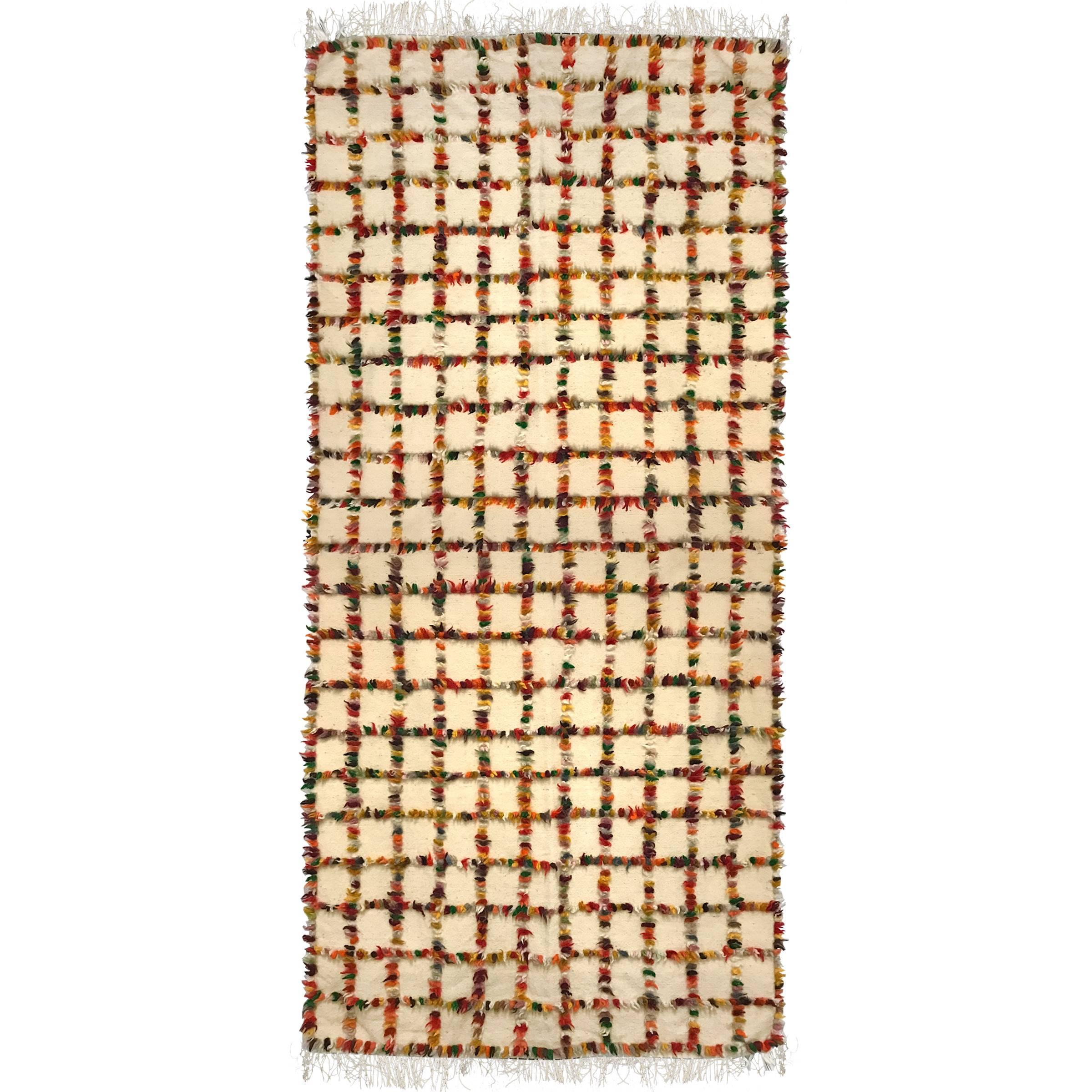 Vintage Turkish Tulu Blanket or Rug