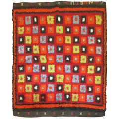 Vintage Turkish Tulu Bohemian Rug