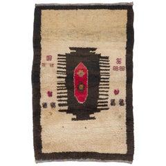 Vintage Turkish Tulu Rug with Comb Design
