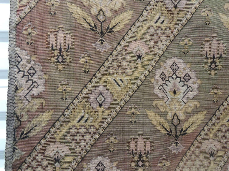 Moorish Vintage Turkish Woven Floral Tapestry Panel For Sale