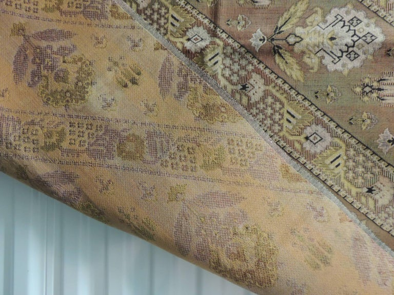 Vintage Turkish Woven Floral Tapestry Panel In Good Condition For Sale In Fort Lauderdale, FL