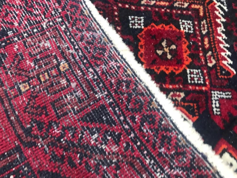 Vintage Turkmen Baluch Afghan Rug For Sale 4