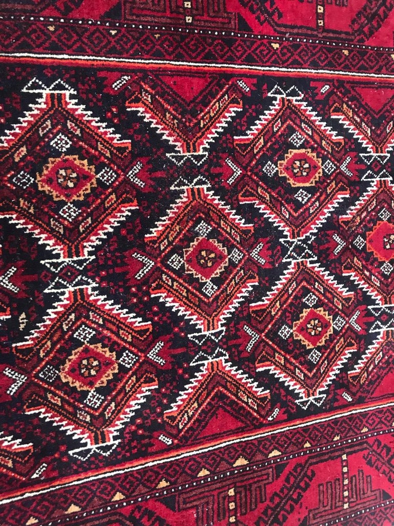 Tribal Vintage Turkmen Baluch Afghan Rug For Sale