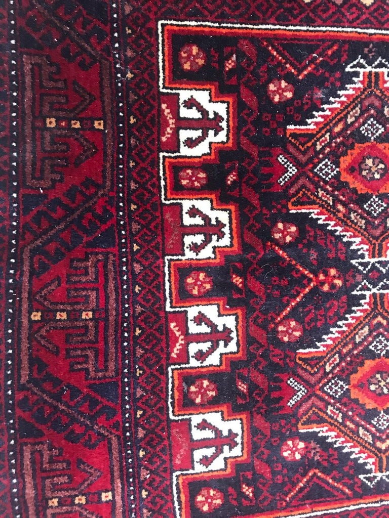 Vintage Turkmen Baluch Afghan Rug In Good Condition For Sale In Saint Ouen, FR