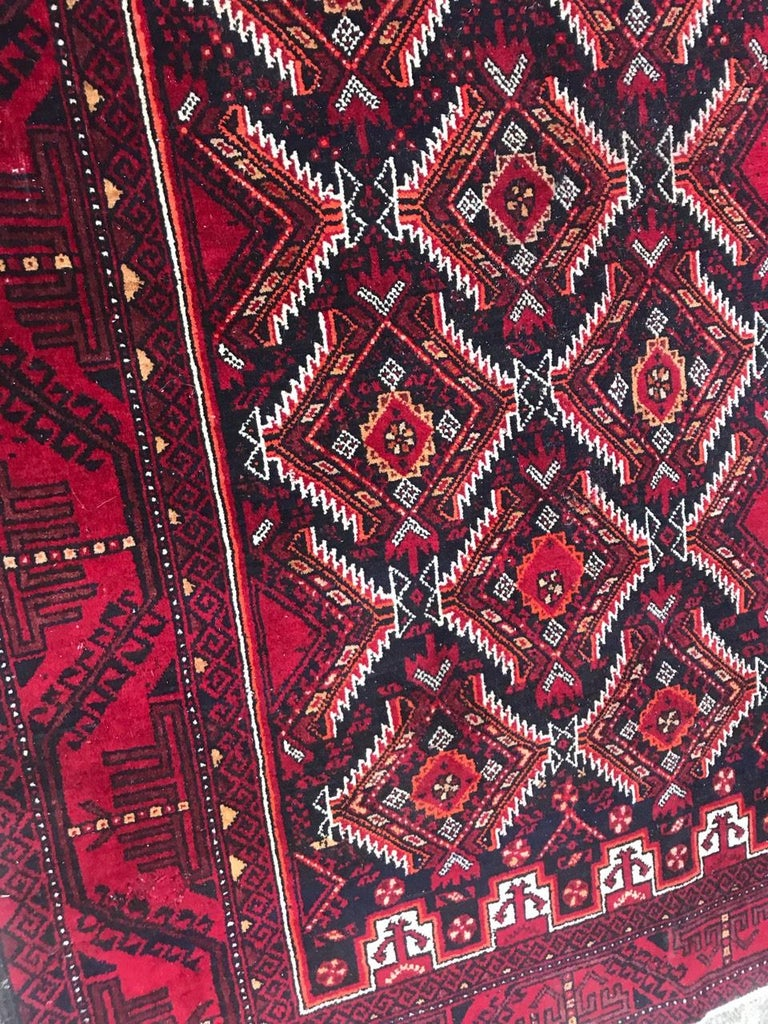 20th Century Vintage Turkmen Baluch Afghan Rug For Sale