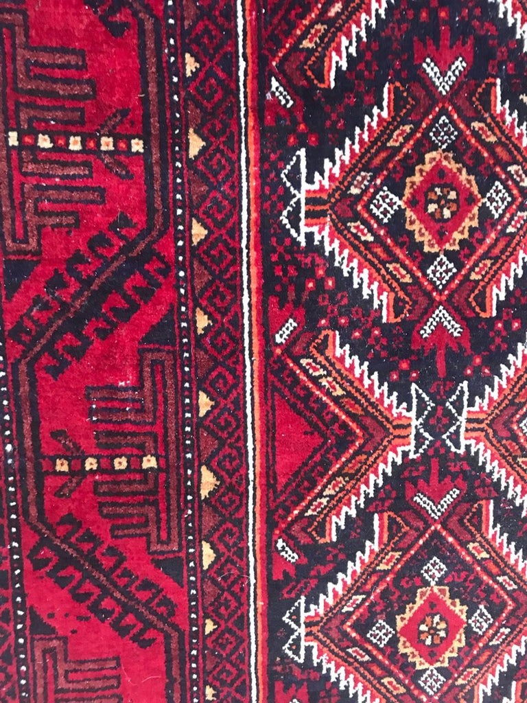 Wool Vintage Turkmen Baluch Afghan Rug For Sale
