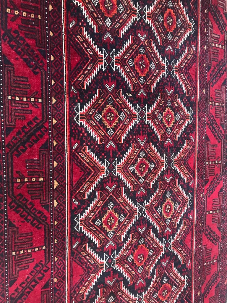 Vintage Turkmen Baluch Afghan Rug For Sale 1