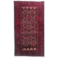 Vintage Turkmen Baluch Afghan Rug