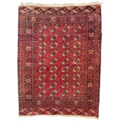 Vintage Turkmen Bokhara Rug
