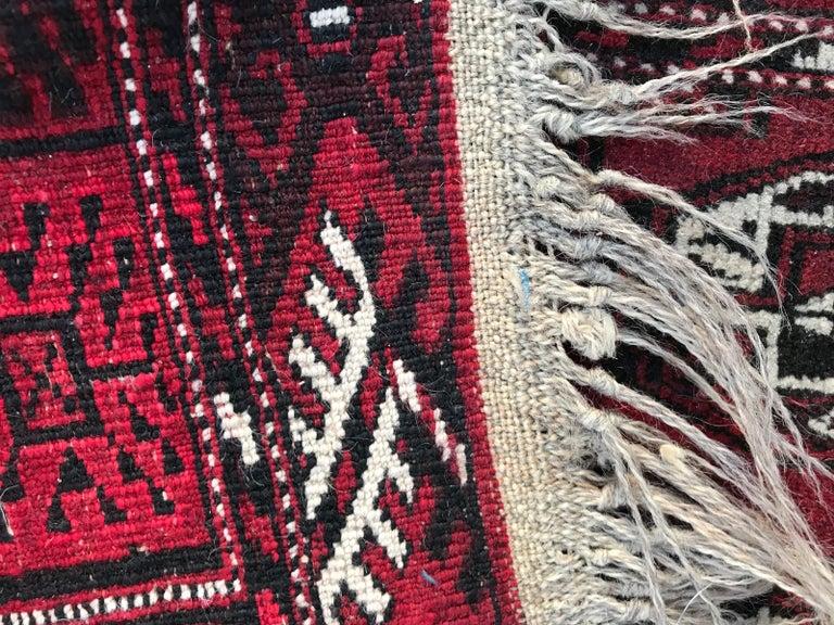 Vintage Turkmen Boukhara Rug For Sale 2