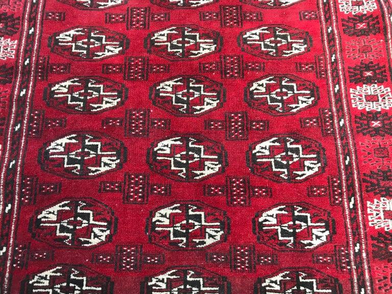 Kazak Vintage Turkmen Boukhara Rug For Sale
