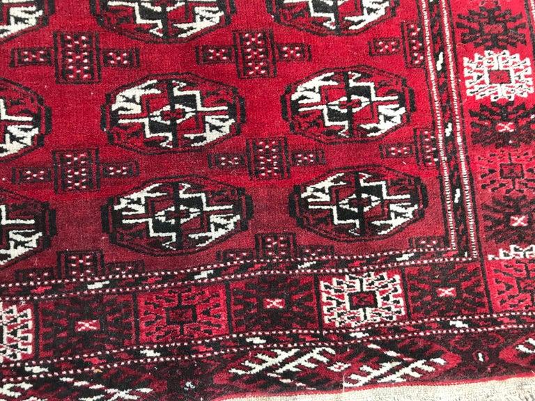 Afghan Vintage Turkmen Boukhara Rug For Sale