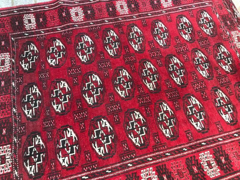 Vintage Turkmen Boukhara Rug For Sale 1
