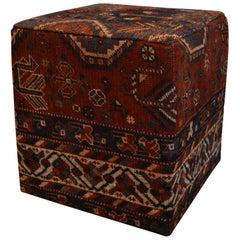 Vintage Turkmen Rug Ottoman