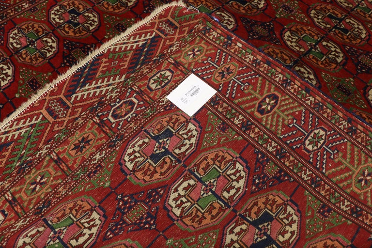 Vintage Turkmen Rug With Modern Tribal Style Tekke Accent