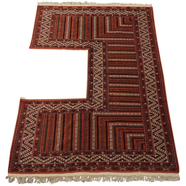 Antique Turkoman Rug: Vintage Turkoman Kapanuk Rug, Circa 1960 For Sale At 1stdibs