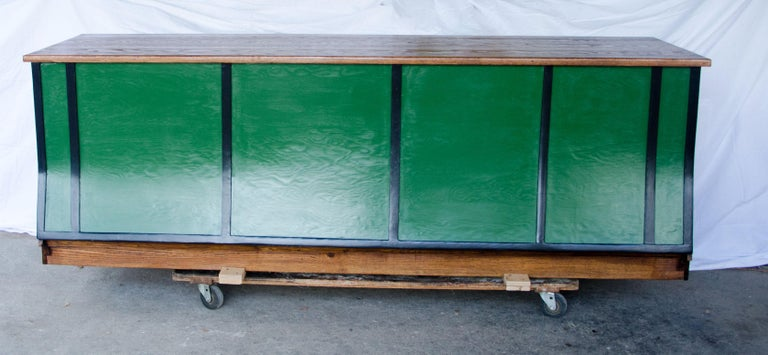 American Vintage Turn of the Century Store Counter, Painted Front For Sale