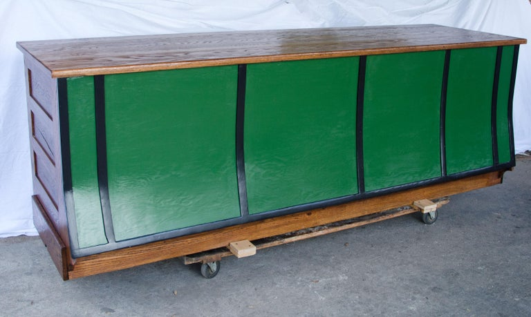 Vintage Turn of the Century Store Counter, Painted Front In Good Condition For Sale In Crockett, CA