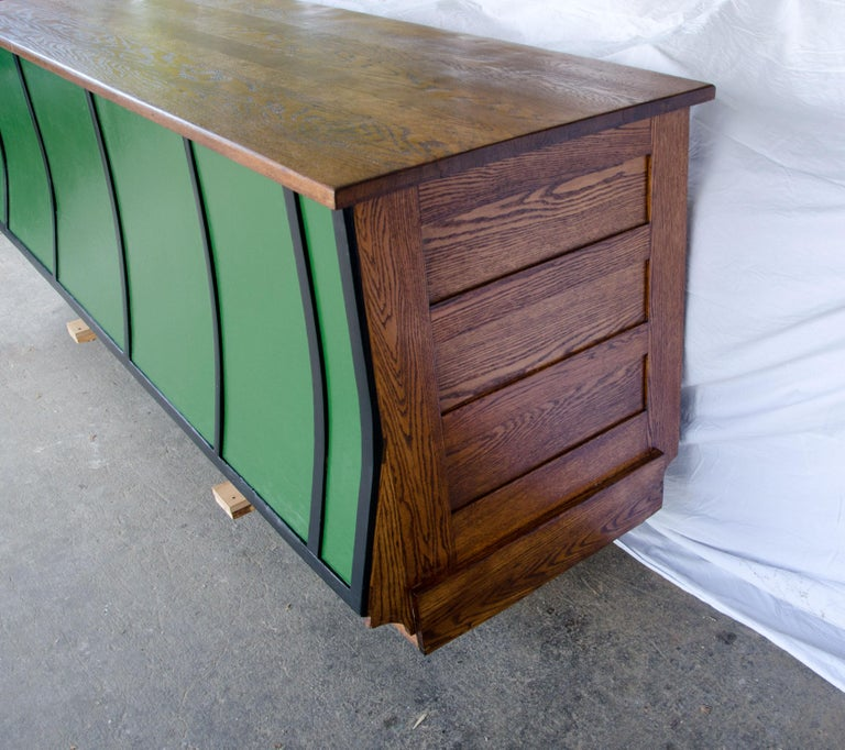 Vintage Turn of the Century Store Counter, Painted Front For Sale 1
