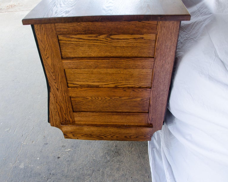 Vintage Turn of the Century Store Counter, Painted Front For Sale 2