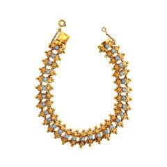 Vintage Turquoise 19 Karat Gold Bracelet
