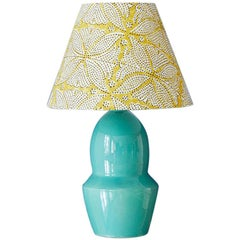 Vintage Turquoise Ceramic Table Lamp