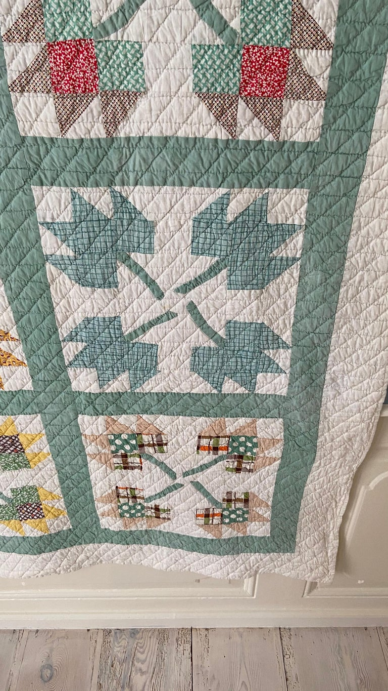 American Vintage Turquoise Patchwork