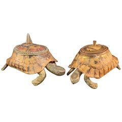Vintage Turtle Shell Boxes